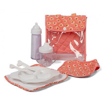voedingsset Dusty PVC/katoen roze/transparant