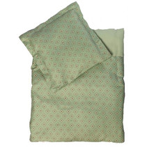 poppendeken Mint 40 x 32 cm katoen groen 2-delig