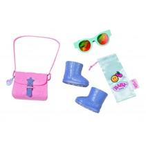 accessoireset Boutique 43 cm roze/paars/blauw