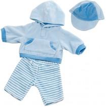 kledingset 30-36 cm blauw 3-delig