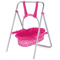 schommelbed Doll Swing meisjes roze 51 x 33 cm