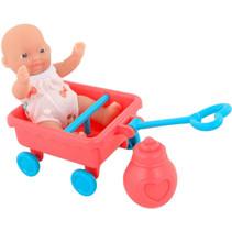 babypop met bolderkar Anmiya 12 cm