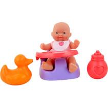 babypop met stoel Anmiya 12 cm