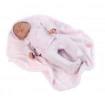 babypop Chloe 43 cm met deken roze
