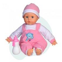 interactieve babypop 38 cm beertje roze
