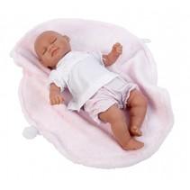 babypop Alba 30 cm met deken roze