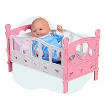 babypop Mini Baby met wieg 28 cm roze