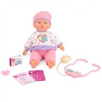 Snuggles babypop interactief zieke Sara 41 cm 5 acc.