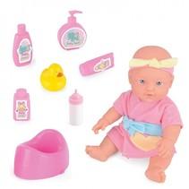 Snuggles babypop badtijd Suzy 30 cm 7-delig roze