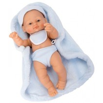 babypop New Born 25 cm blauw