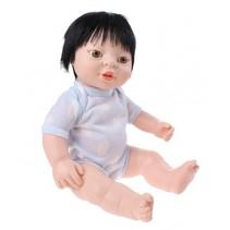babypop Newborn met romper Aziatisch 38 cm jongen