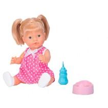 babypop met flesje en potje 40 cm meisjes roze