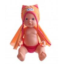 plas- en drinkpop met accessoires 38 cm meisjes oranje