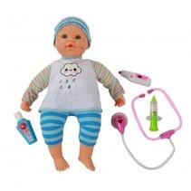 Babypop met hartslag en geluid 48 cm