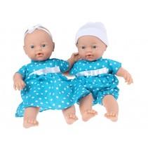 babypoppen met kleertjes meisjes 2 stuks blauw