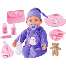 babypop Piccolina Real Tears paars 46 cm 13-delig