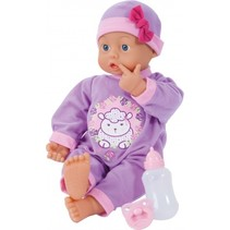 babypop met accessoires First Words 46 cm paars 3-delig