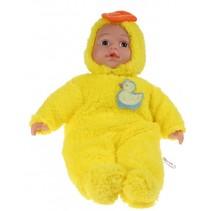 Babypop met dierenpyjama - eend
