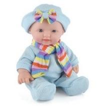 Snuggles babypop Sophia meisjes 25 cm blauw 4-delig