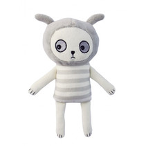 knuffelkonijn junior 20 cm polyester wit/grijs