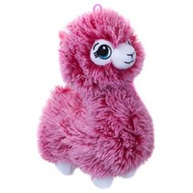 pluchen Alpaca knuffel 22 cm junior roze