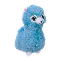 pluchen Alpaca knuffel 22 cm junior blauw