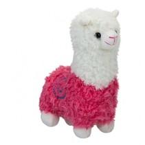 pluchen knuffel Alpaca 22 cm junior roze