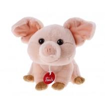 pluchen knuffelvarken Manlio 22 cm roze