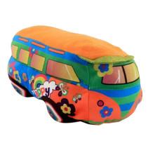 pluchen Happy Bus 25cm oranje