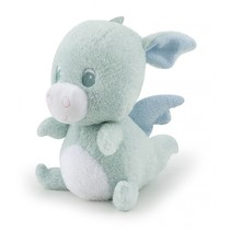knuffel babydraak 19 cm mintblauw