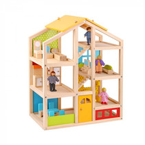 poppenhuis junior 49,2 x 16,2 x 60,5 cm hout 10-delig