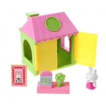 speelhuisje Minishop 7 cm meisjes groen/geel 5-delig