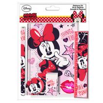 schoolspullen Minnie Mouse meisjes roze/rood 5-delig