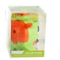 puntenslijper schildpad groen/oranje 7 cm