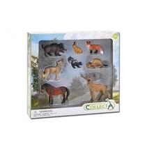 speelset bosdieren Deluxe Window Box 8-delig