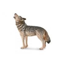 speelfiguur wolf grijs 9 x 8 cm