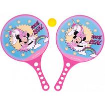 strandtennisset Minnie Mouse 3-delig roze/blauw