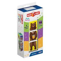 speelset MagiCube Animals 4,5 x 20 x 9 cm 3-delig