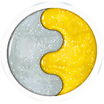 glitterslijm Magiki transparant/geel