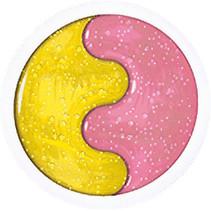glitterslijm Magiki roze/geel