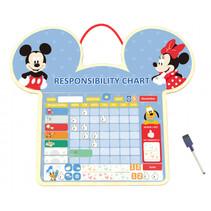 prioriteitenplanner Mickey Mouse junior 44 cm hout blauw