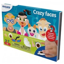 on the go magnetishc taal spel: crazy faces