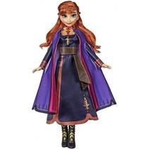 speelfiguur Frozen 2 Singing Anna 30 cm blauw