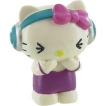 speelfiguur Hello Kitty: Music 6 cm wit