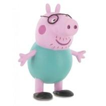 speelfiguur Peppa Pig: Daddy Pig 6 cm roze