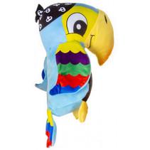 knuffelpapegaai junior 25 cm pluche blauw