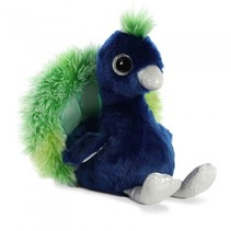 knuffelpauw Penelope 18 cm blauw