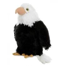 knuffel Amerikaanse zeearend 20,5 cm zwart/wit
