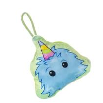 knuffel trol junior 10 x 8 cm pluche blauw/groen