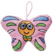 knuffelvlinder meisjes 13 cm pluche roze